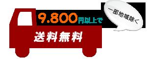 9,800円以上で送料無料!!
